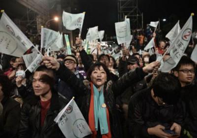 فوز مرشحة المعارضة بانتخابات رئاسة تايوان1