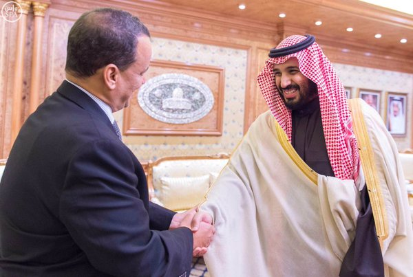 #محمد_بن_سلمان يبحث مستجدات الملف اليمني مع المبعوث الأممي1