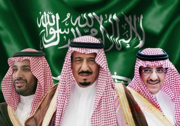 الملك سلمان ومحمد بن نايف ومحمد بن سلمان