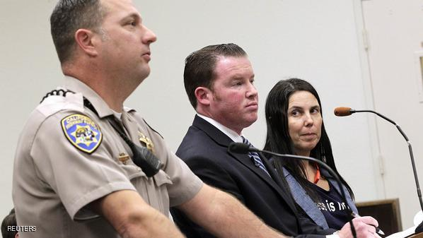 Defendant Cecila Abadie attends her court hearing at the traffic court in San Diego
