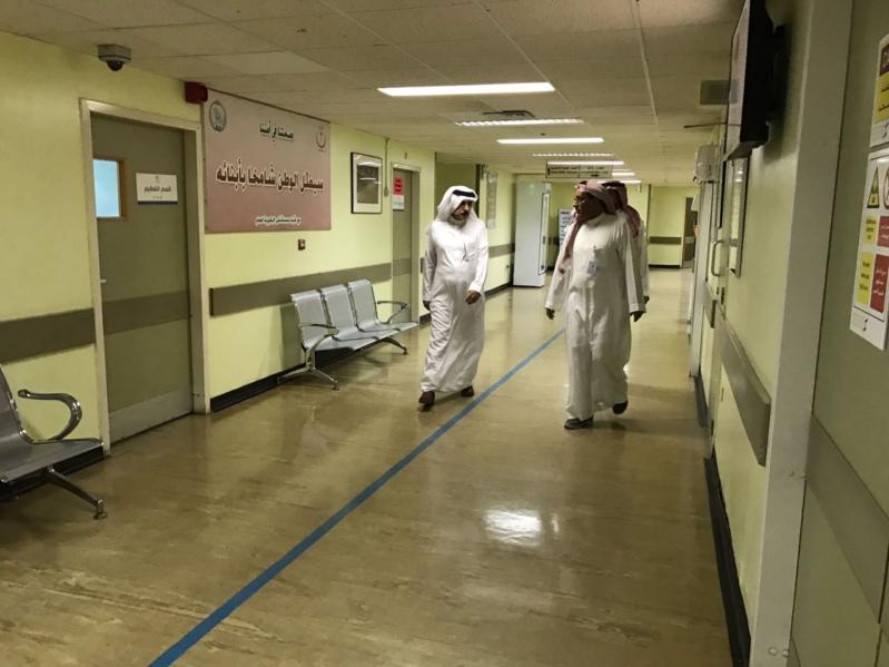 حافظ البكيرية يُفاجئ العاملين بالمستشفى والقطاعات الأمنية بزيارة تفقدية