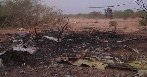 موقع تحطم الطائرة الجزائرية في مالي