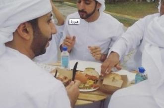 بالصور.. ولي عهد دبي يتناول شطائر مغطاة بذهب عيار 24 - المواطن