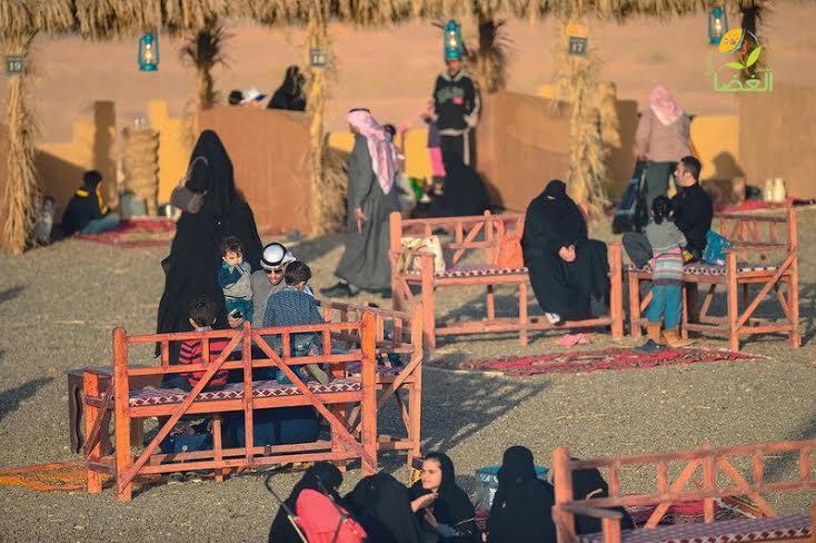 بالصور.. مهرجان الغضا بـ #عنيزة يبدأ فعالياته التراثية