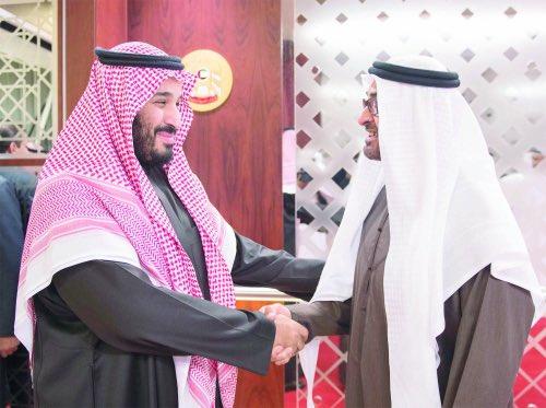 محمد بن زايد يودّع #ولي_ولي_العهد في أبو ظبي