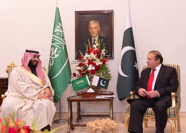دولة رئيس الوزراء الباكستاني يستقبل سمو ولي ولي العهد