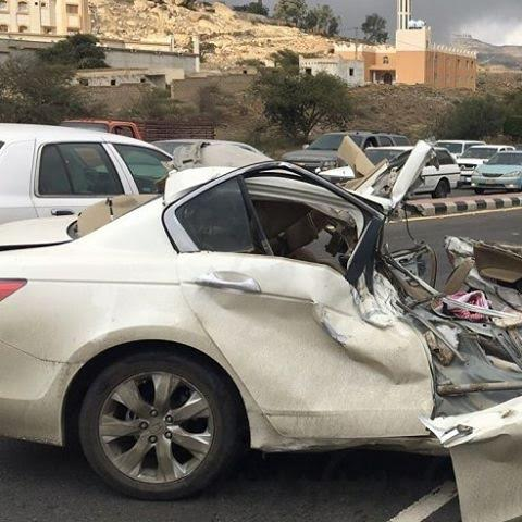 وفاة شخص في حادث مروري مروع في #أبها