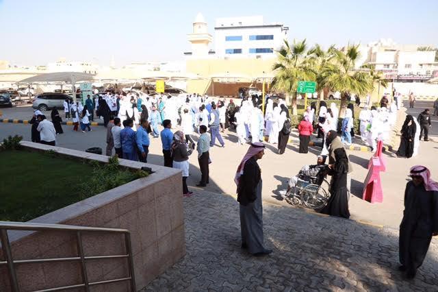 تجربة إخلاء فرضية بمدينة سعود الطبية10