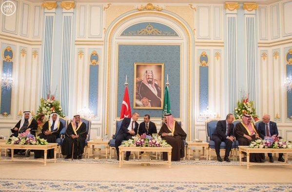 خادم الحرمين الشريفين يستقبل الرئيس التركي 10