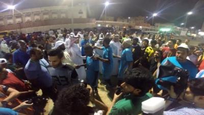 1000 مشارك و7 جهات في مسيرة إماطة بوسط الدمام (1) 