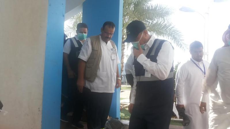 نائب وزير الصحة يزور موقع #حريق_مستشفى_جازان_العام11