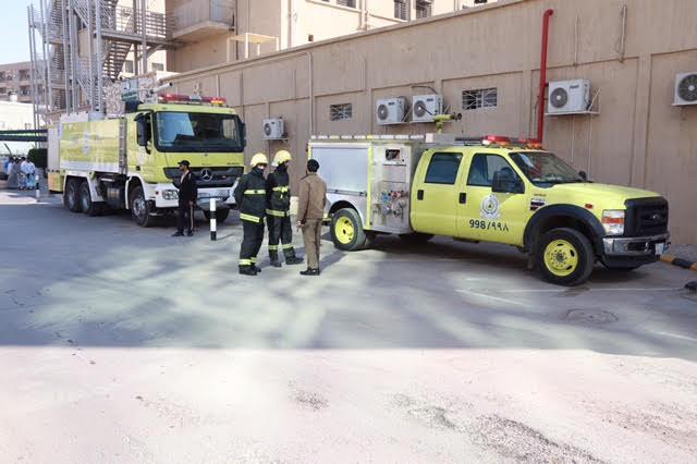 تجربة إخلاء فرضية بمدينة سعود الطبية11