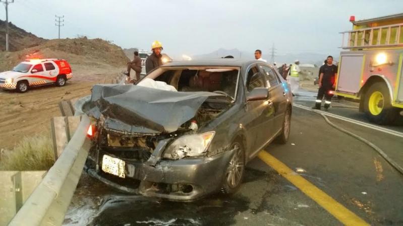 بالصور.. إصابة 6 أشخاص في حادث مروري بطريق #الخواجات111