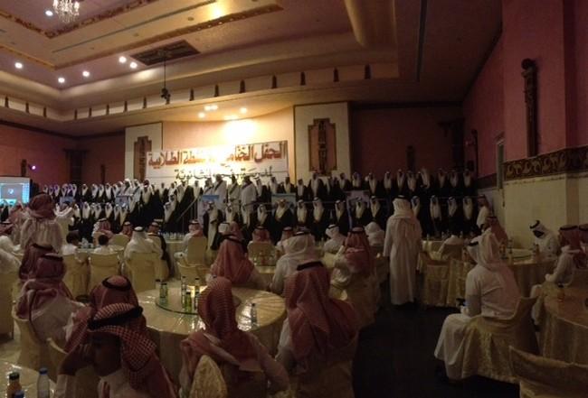 بالصور.. ثانوية رفحاء تحتفل بتخريج 140 طالباً - المواطن