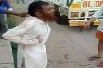فيديو مروع.. هندوس يضربون مسلما حتى الموت بسبب بقرة!! - المواطن