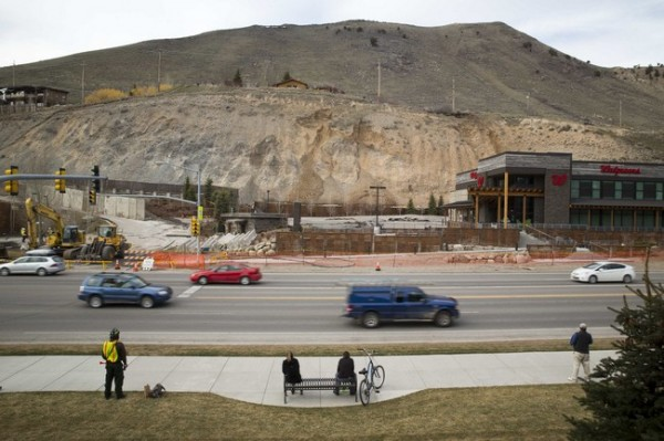 Slow moving landslide threatens businesses and homes in Jackson Hole, Wyoming