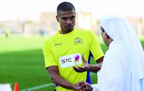 محمد حسين مدافع الفريق الكروي الأول بنادي النصر السعودي