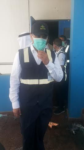 نائب وزير الصحة يزور موقع #حريق_مستشفى_جازان_العام13