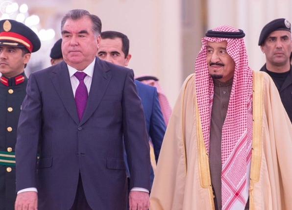 خادم الحرمين الشريفين يستقبل رئيس جمهورية #طاجيكستان .