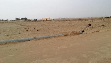 سقوط عمود ضغط منخفض قرب أمن طرق دوريات شاطئ السعيدة - المواطن