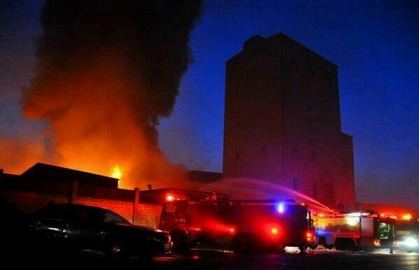 حريق مصنع إندومي