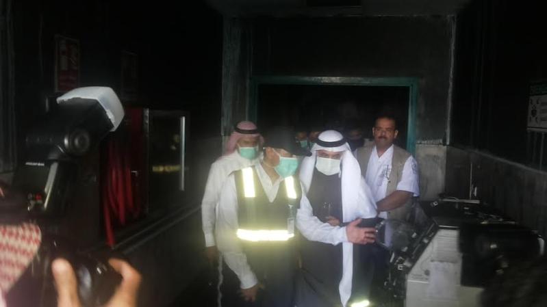 نائب وزير الصحة يزور موقع #حريق_مستشفى_جازان_العام14