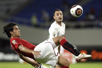 الدولي المصري محمود فتح الله، مدافع فريق الزمالك المصري
