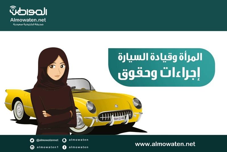 """إنفوجرافيك """"المواطن"""".. المرأة وقيادة السيارة إجراءات وحقوق"""
