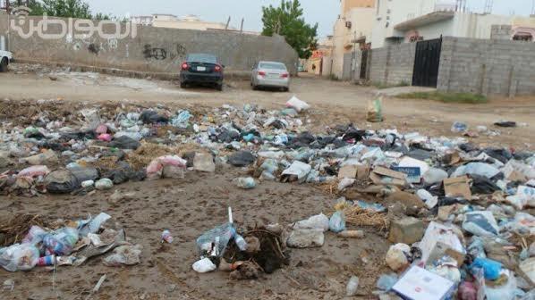 """بالصور..""""ركوبة صامطة"""" : لا نظافة ولا سفلتة ولا إنارة ! - المواطن"""