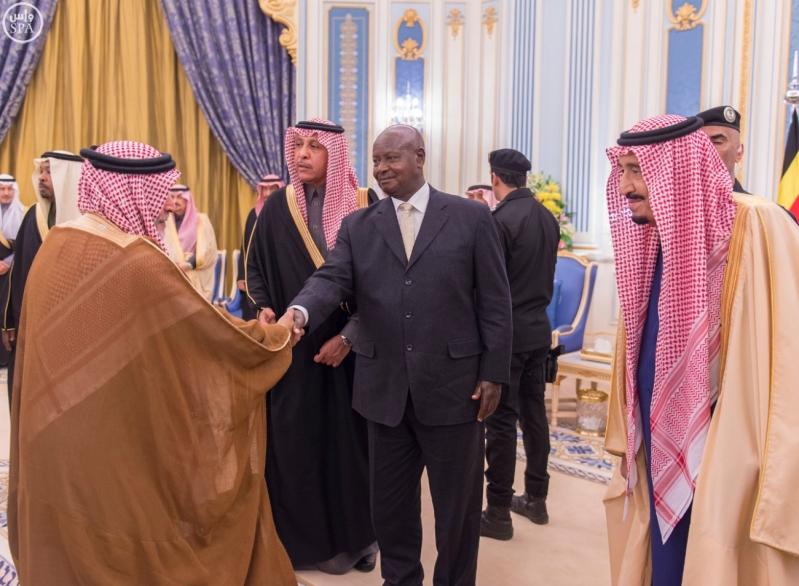 خادم الحرمين الشريفين يستقبل الرئيس الأوغندي16