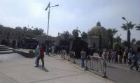 9 مصابين معظمهم من الشرطة في تفجير أمام جامعة القاهرة