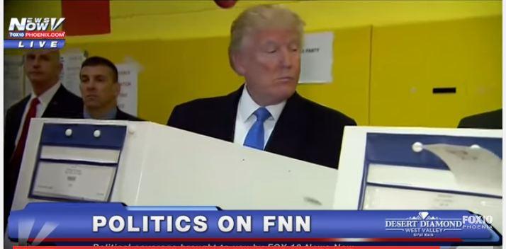 رامب يختلس النظر لبطاقة زوجته الانتخابية لمعرفة مرشحها