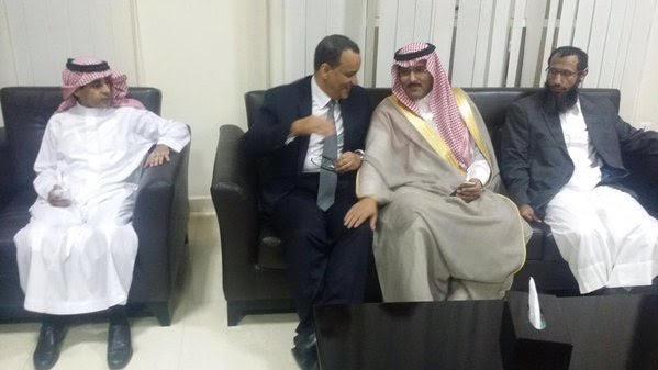 الإفراج عن معلميْن سعودييْن بـ #اليمن والمبعوث الأممي ينقلهما لجيبوتي2