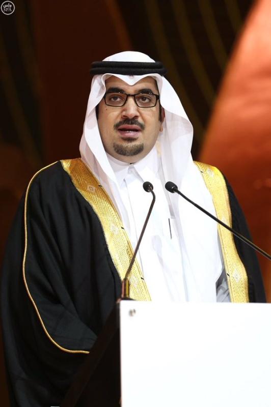 ابن مساعد يهنئ نواف بن فيصل لتكريمه بجائزة محمد بن راشد للإبداع بـ #دبي2