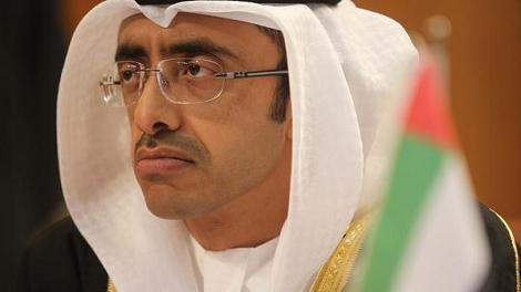 وزير خارجية الإمارات -الشيخ عبدالله بن زايد آل نهيان