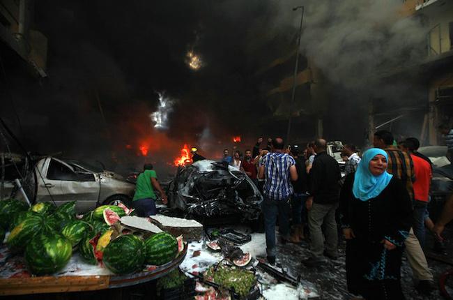 """بالفيديو ..أكثر من 130 قتيلاً وجريحاً في انفجار ضخم بمعقل """"حزب الله"""" - المواطن"""