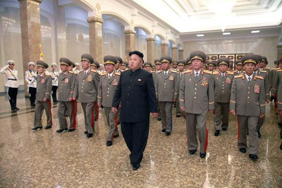الزعيم الكوري الشمالي كيم جونج