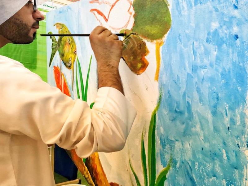 بالصور 25 معلم تربية فنية يبدعون في الرسم على اللوحات الجدارية بتعليم شرق الدمام صحيفة المواطن الإلكترونية