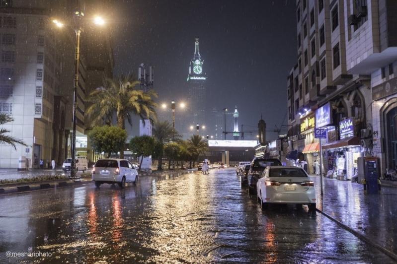 أمطار على مكة وضباب على جازان حتى الصباح