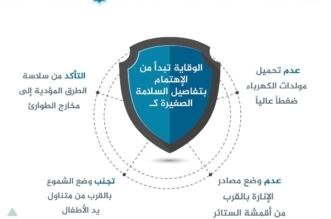 إنفوجرافيك.. 4 نصائح للوقاية والسلامة في المنزل - المواطن