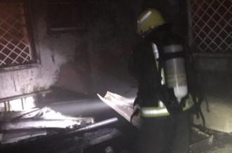 بالصور.. التماس في مفتاح مكيف يُشعل حريقًا بعمارة في رجال ألمع - المواطن