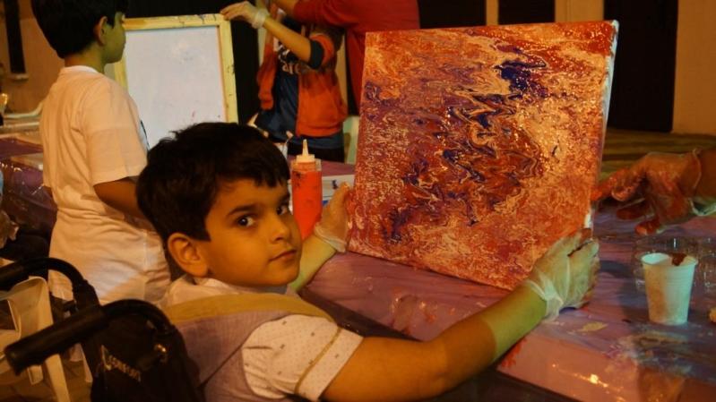 أطفال عسير المعوقون يشاركون في ورشة رسم بالمفتاحة - المواطن