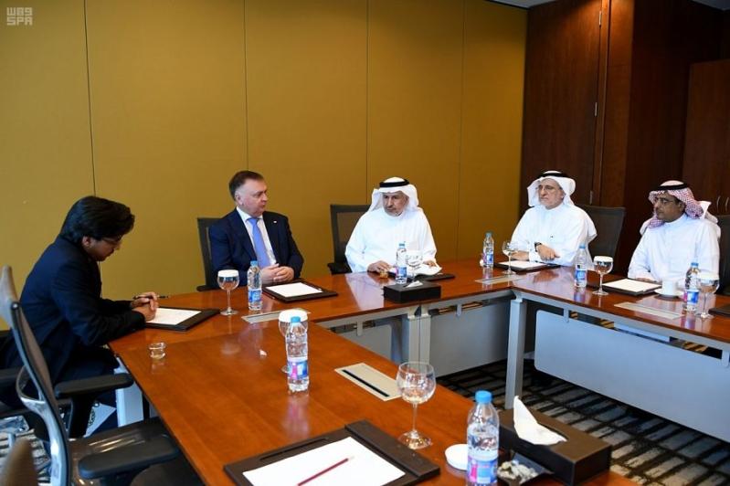الربيعة يبحث التعاون بين مركز الملك سلمان للإغاثة والمنظمة الدولية للحماية المدنية