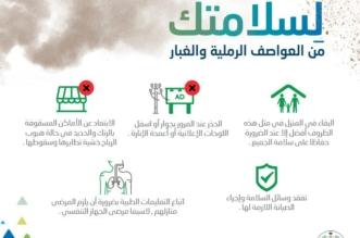 5 نصائح للسلامة من خطورة العواصف الرملية والغبار - المواطن