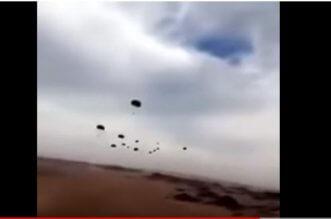 شاهد.. عسكري يوثق إنزالاً جويًا كثيفًا قرب الحديدة: جايلك يالحوثي - المواطن
