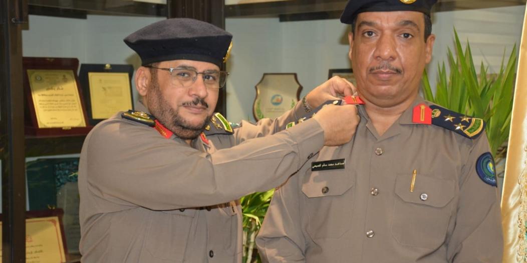 مدير مدني مكة يقلد العميد الصبحي رتبته الجديدة