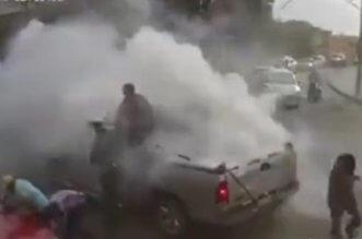بالفيديو.. صاروخ ألعاب نارية ينفجر عقب إطلاقه - المواطن