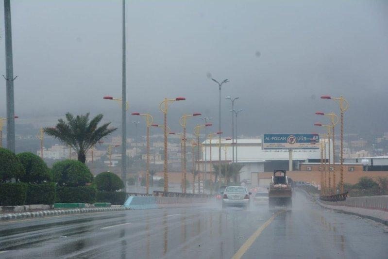 مدني عسير يحذر من التقلبات الجوية: غبار وبرد مع أمطار غزيرة