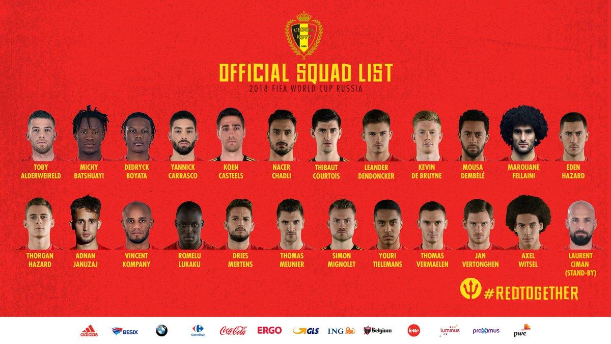رسميًا .. قائمة شياطين بلجيكا النهائية لمونديال روسيا