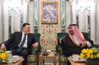 الملك يستقبل رئيس المجلس الرئاسي لحكومة الوفاق الليبية - المواطن